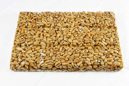 gozinaki: Oriental sweets  - Gozinaki on the white paper napkin Stock Photo