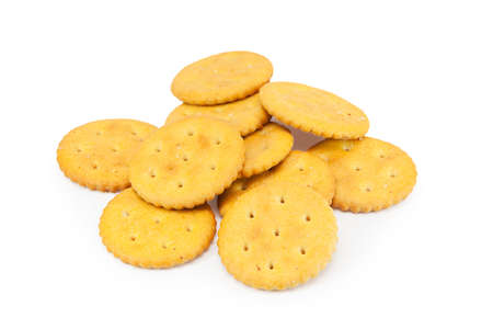 Pile of cookies isolated on white background Stock Photo - 15903246