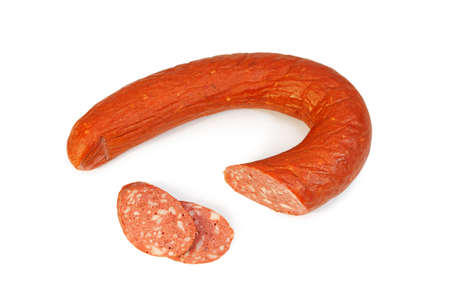 Krakow sausage isolated on white background Stock Photo - 16459415