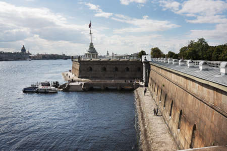 topdown: The Peter and Paul fortress in  St.Petersburg, Russia