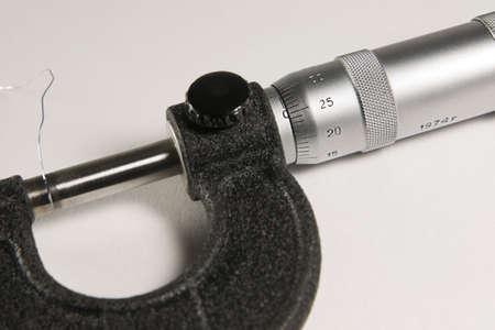 micrometer: Measuring instrument - micrometer closeup
