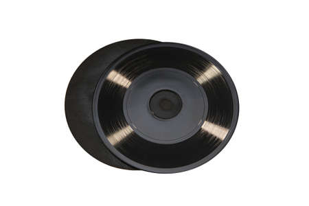 unilateral: Retro single-sided disk isolated on white background