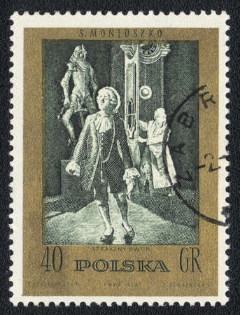 POLAND  - CIRCA 1972  A stamp printed in POLAND shows Scenes from Operas and Ballets by Moniuszko, circa 1972