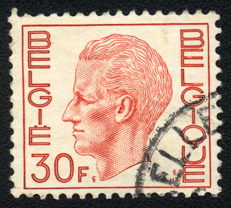 baudouin: BELGIUM - CIRCA  1971: A stamp printed in BELGIUM shows Portrait of Baudouin,  King of  Belgium, circa 1971