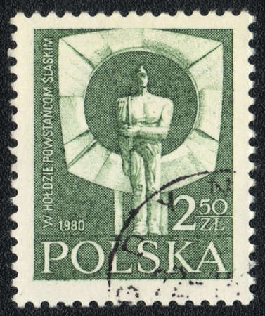 insurgents: POLAND  - CIRCA  1980: A stamp printed in POLAND shows Monument in tribute to the Silesian insurgents, circa 1980 Editorial