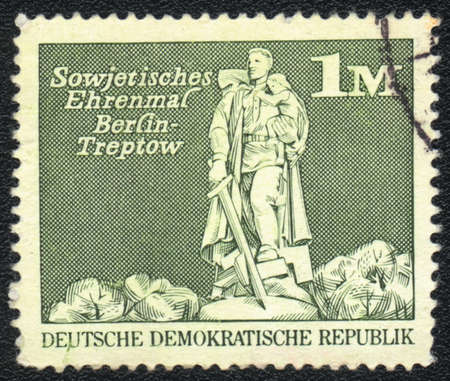 treptow: DDR - CIRCA 1973: A stamp printed in DDR  shows Soviet War Memorial, Treptow , circa 1973