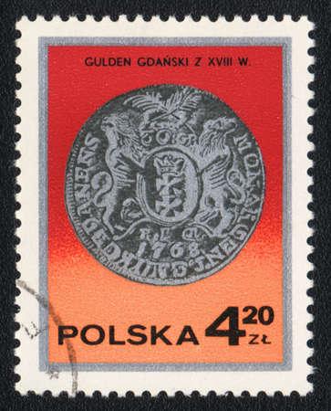 gulden: POLAND - CIRCA 1982: A stamp printed in POLAND  shows Guilder, circa 1982