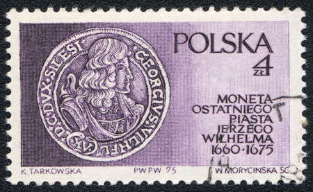 elector: POLAND - CIRCA 1975: A stamp printed inPOLAND  shows Frederick William, Elector of Brandenburg, circa 1975