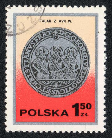 thaler: POLAND - CIRCA 1982: A stamp printed in POLAND  shows Thaler , circa 1982