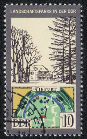 ddr: DDR - CIRCA 1981: A stamp printed in DDR  shows Landscaping in DDR, circa 1981