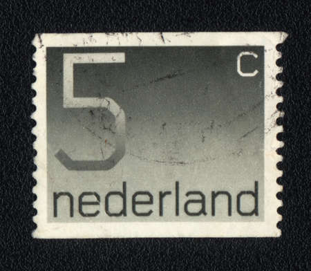 five cents: NETHERLANDS - CIRCA 1982: A stamp printed in Netherlands  shows five cents, circa 1982