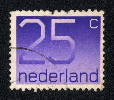 25 cents: NETHERLANDS - CIRCA 1982: A stamp printed in Netherlands  shows  twenty-five cents, circa 1982