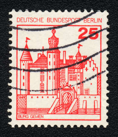 bundespost: DDR - CIRCA 1982  A stamp printed in DDR  shows  Burg Gemen, circa 1982