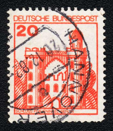 ddr: DDR - CIRCA 1982  A stamp printed in DDR  shows Schloss Pfaueninsel Berlin , circa 1982