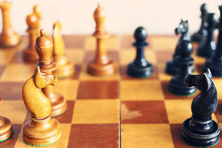 Vintage wooden chess