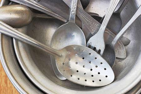 utensilios de cocina: Antiguo utensilios de aluminio