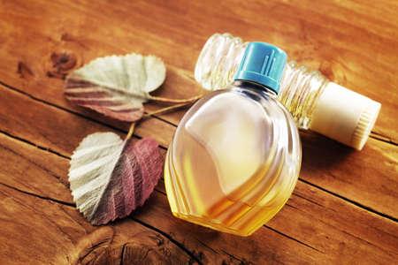 Vintage bottles of perfume photo
