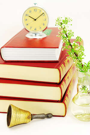 bookcover: Pile of books Stock Photo