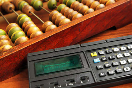 handheld computer: Rentro calculators Stock Photo