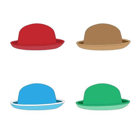hem: Vintage hat with the brim Illustration