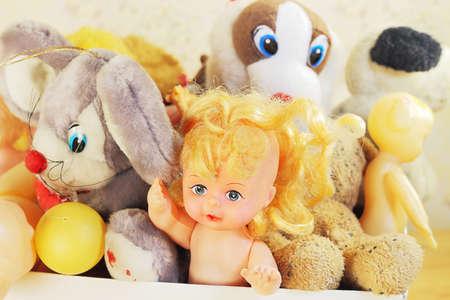 needless: Old childrens toys Stock Photo