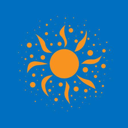 aureole: Sun on a blue background