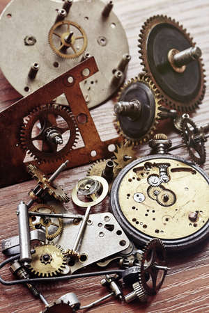 watch groups: Parts of mechanical watch and alarm clock