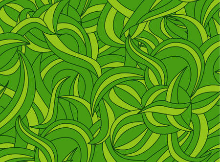 liana: Seamless plant pattern with liana leaves