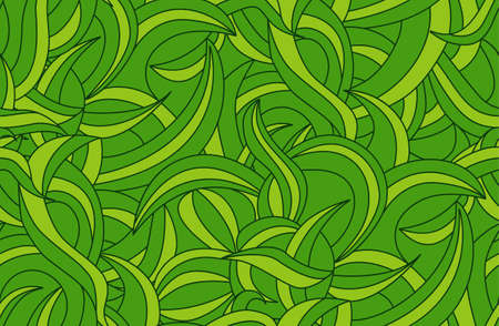 liana: Seamless tropical jungle pattern background with liana leaves Stock Photo