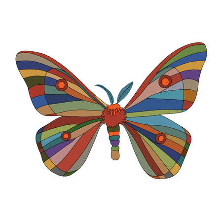fancy: Fancy butterfly on white Illustration