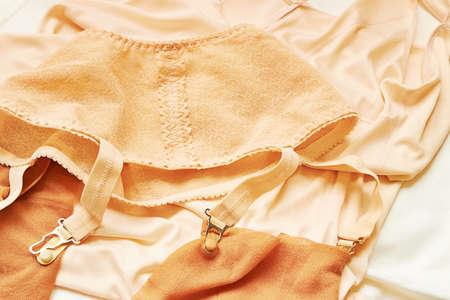 hosiery: Vintage underwear Stock Photo