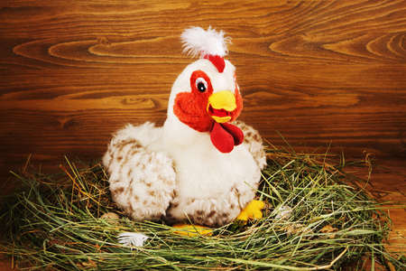 beautify: Beautify toy chicken Stock Photo