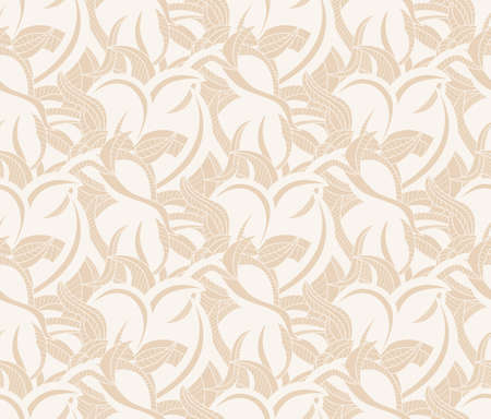 Seamless pattern with curves on beige background duotone for wallpaper Illustration