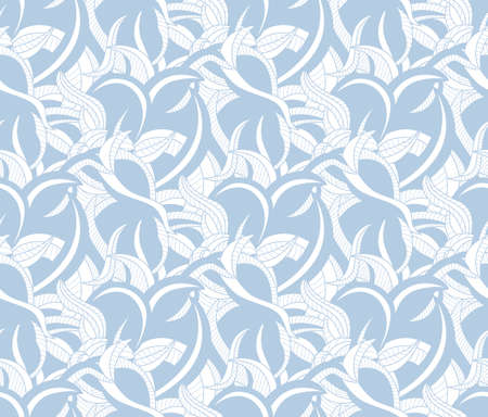 Seamless pattern background with the light blue curves
