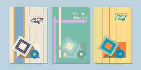 Three abstract book covers