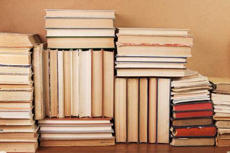 Heaps of various paper books 免版税图像