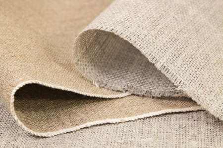 Folds of gray cotton and flax clothes