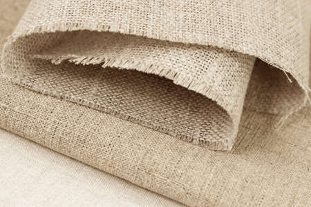 Various sample of unbleached linen