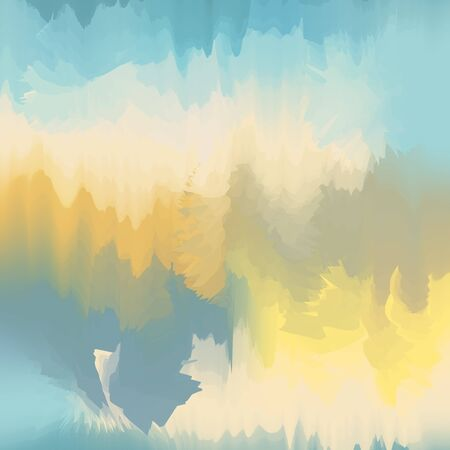 Abstract background in yellow and blue colors, vector, imitation of colorful divorces. Excellent as a background for the production of any printed product, advertising, or other design.