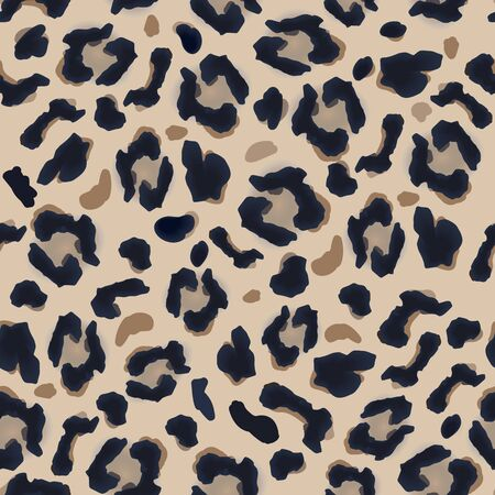 Pattern of dark and light brown spots, simulates the leopard fur. Beautiful background pattern, great for decorating fabrics, textile products, gift wrapping designs, any printed products, including promotional ones.