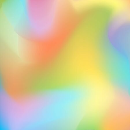 Bright blurred background with flowing smooth lines, orange, yellow-green and purple-blue gradient transitions. Excellent as a background for the production of any printed product, advertising.