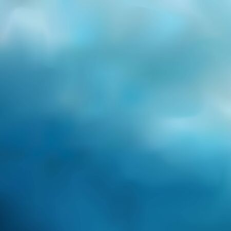 Blue blurred background combining from transitions of dark azure to gray-blue, cloudy sky after rain.  イラスト・ベクター素材