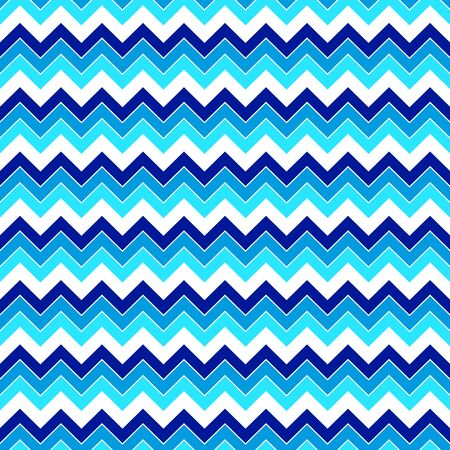 Seamless geometric pattern of broken lines of light and dark blue shades, zigzag, on a white background. Great for decorating fabrics, textiles, gift wrapping, printed materials, advertising.