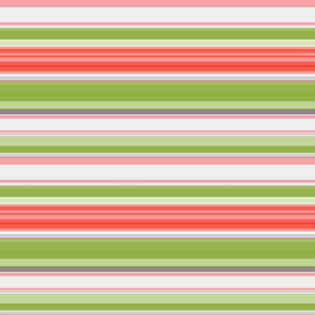 Seamless pattern in orange-green, white and gray horizontal stripes pattern, stripes of different widths, vector. Great for decorating fabrics, textiles, gift wrapping, printed materials, advertising.  イラスト・ベクター素材