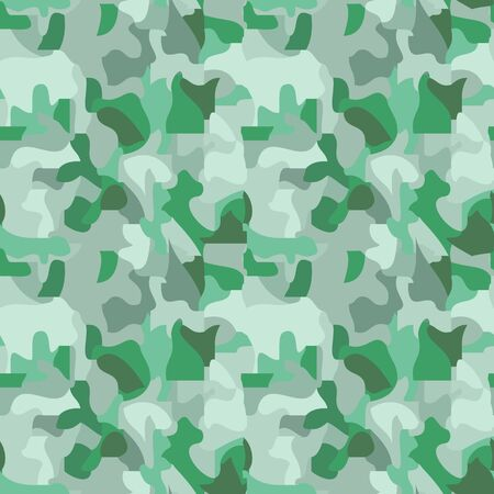 Seamless pattern of spots in gray green tones, camouflage, vector. Great for decorating fabrics, textiles, gift wrapping design, any printed materials, advertising, or other design.  イラスト・ベクター素材