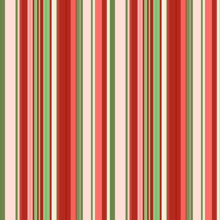 Coral red, green and dull pink vertical stripes of different widths, seamless pattern, vector. Great for decorating fabrics, textiles, gift wrapping design, any printed materials and advertising.  イラスト・ベクター素材