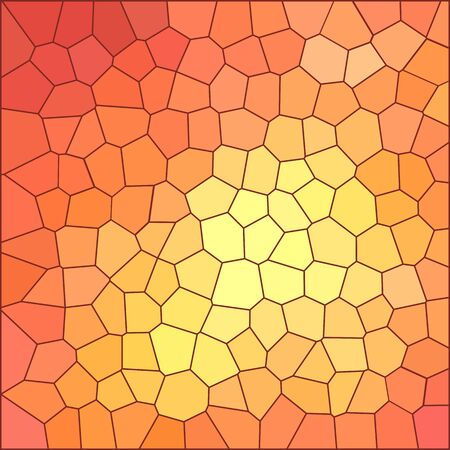Mosaic background, orange-yellow with tangerine color, large mesh of polygons, vector. Excellent as a background for the production of any printed product, web pages, advertising, or other design.