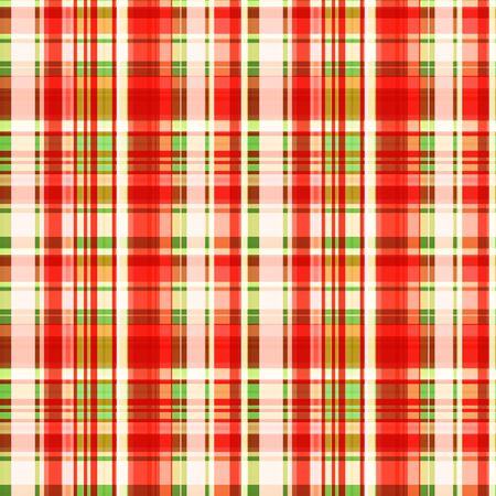Seamless pattern, bright cage of red, green and very light, pale stripes. Checkered pattern. Great for decorating fabrics, textiles, gift wrapping design, any printed materials, including advertising. Фото со стока - 129818664