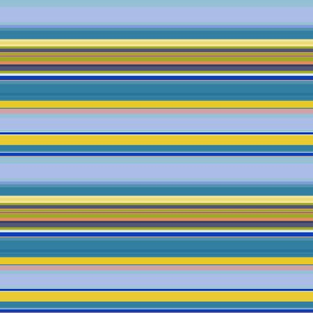 Thin and wide horizontal stripes seamless pattern. Yellow-green and stripes of blue shades. Great for decorating fabrics, textiles, gift wrapping design, any printed materials, including advertising.  イラスト・ベクター素材
