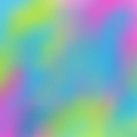 Blurred bright rainbow background. Azure, amaranth, pear-green color spots flow into each other. Excellent as a background for the production of any printed product, web pages, advertising, or other. Ilustracja